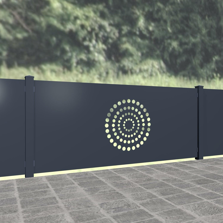 Gartenzaun Alu Laserschnitt Design KR