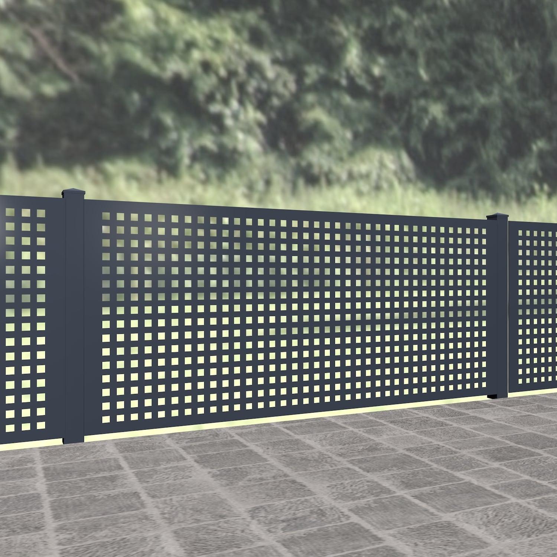 Gartenzaun Alu Laserschnitt Design QL