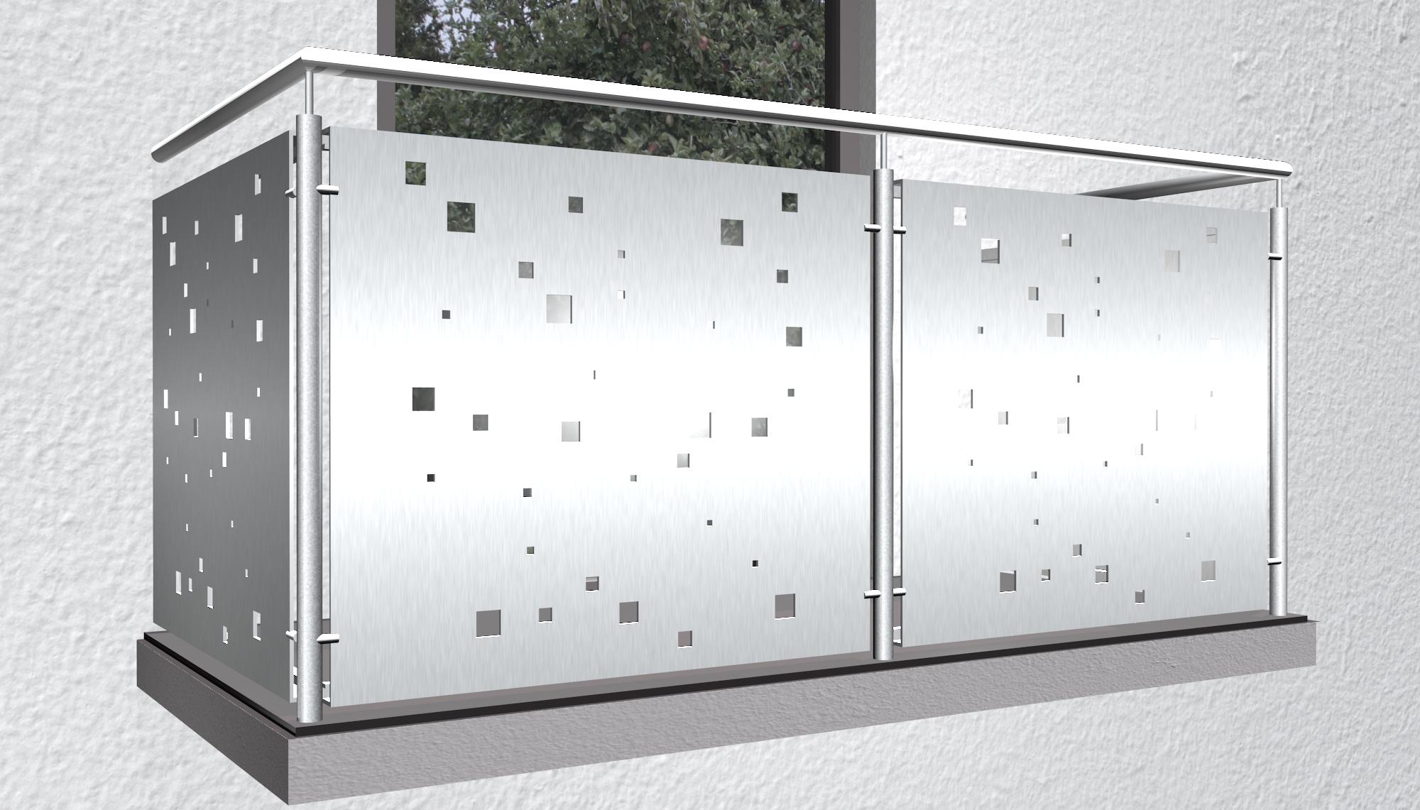 Balkonverkleidung Aluminium QE