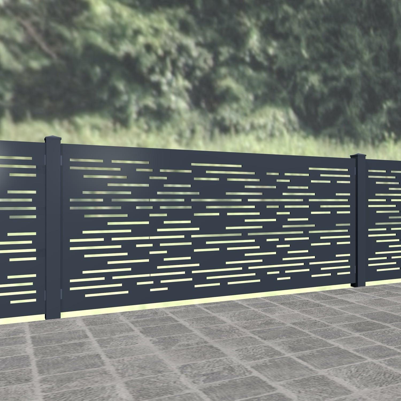 Gartenzaun Alu Laserschnitt Design SF HO