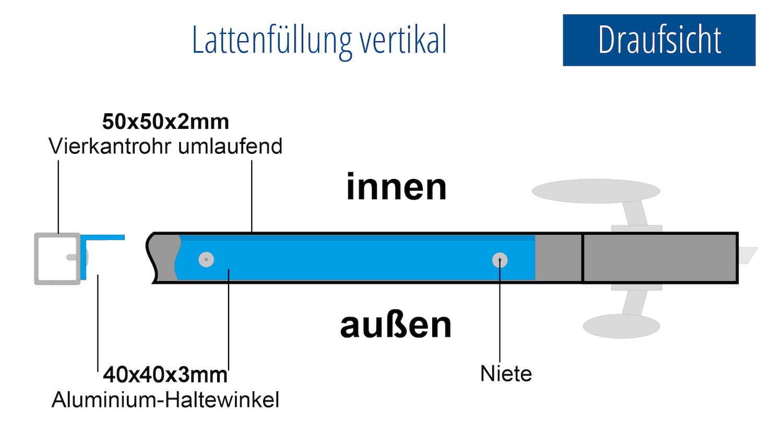 Gartentür verzinkt 1-flügelig EF, GE, BK