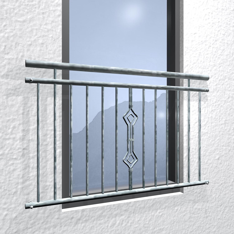 Französischer Balkon verzinkt Sanduhr Ornament