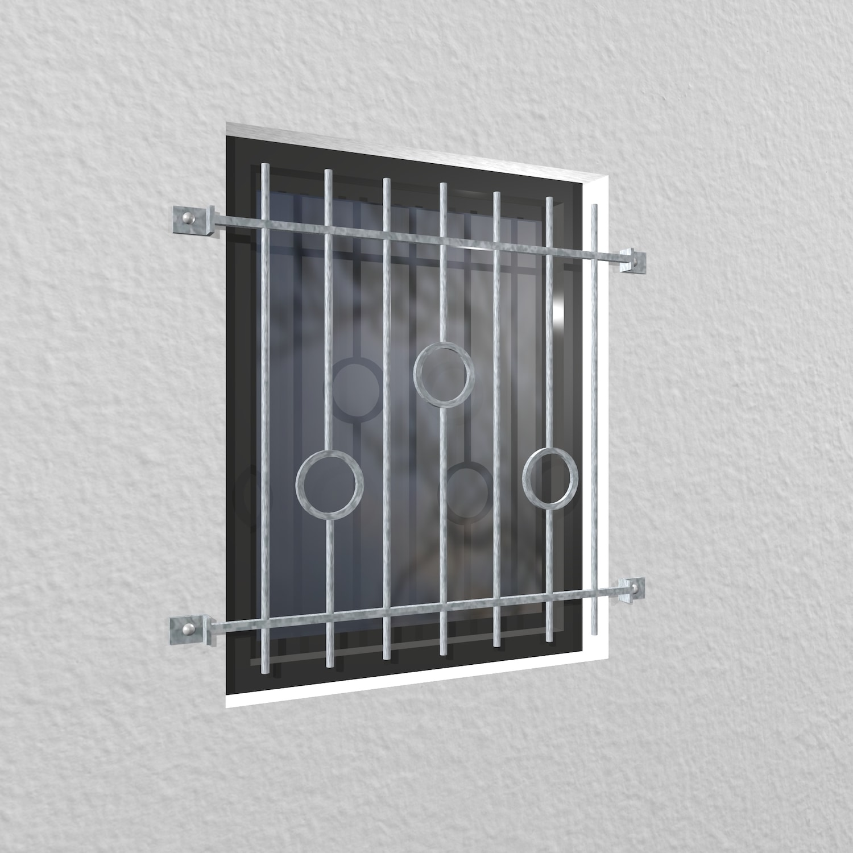Fenstergitter verzinkt Kreis Stab