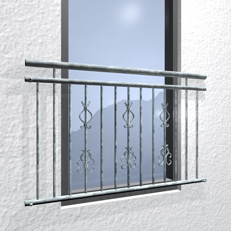 Französischer Balkon verzinkt Arkantus Triple Ornament