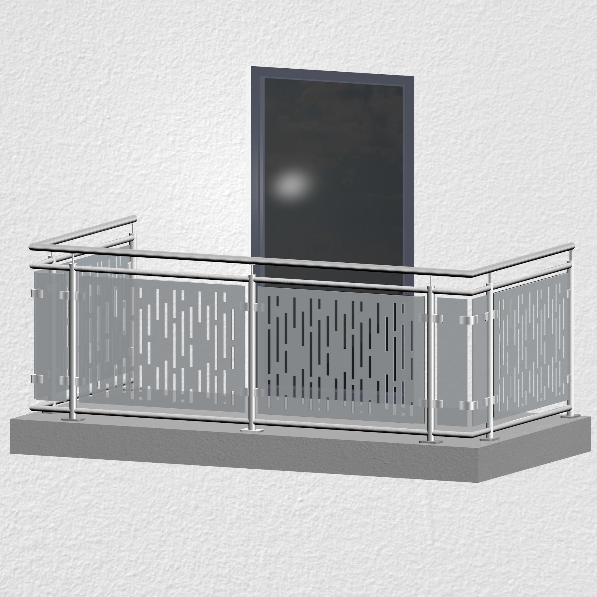 Balkongeländer Edelstahl Designglas SF VE