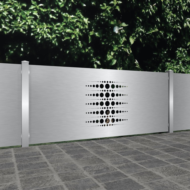 Gartenzaun Edelstahl Laserschnitt Design PE 2