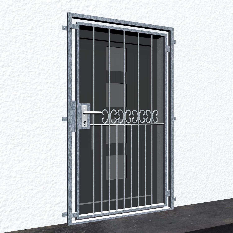 Gittertür verzinkt C-Kringel