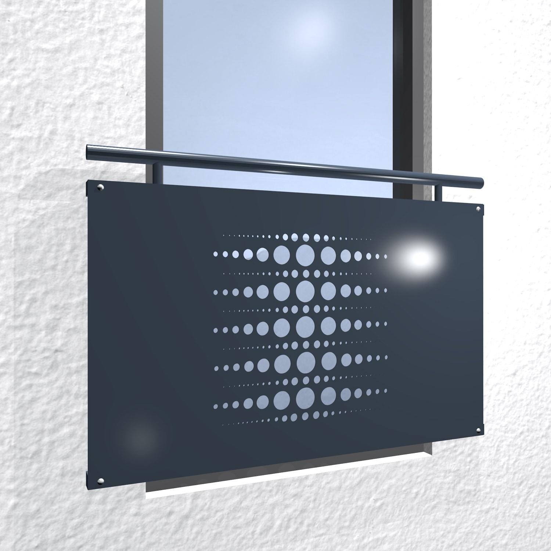 Französischer Balkon verzinkt Designblech Perlen 2
