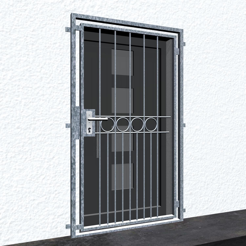 Gittertür verzinkt Ringreihe