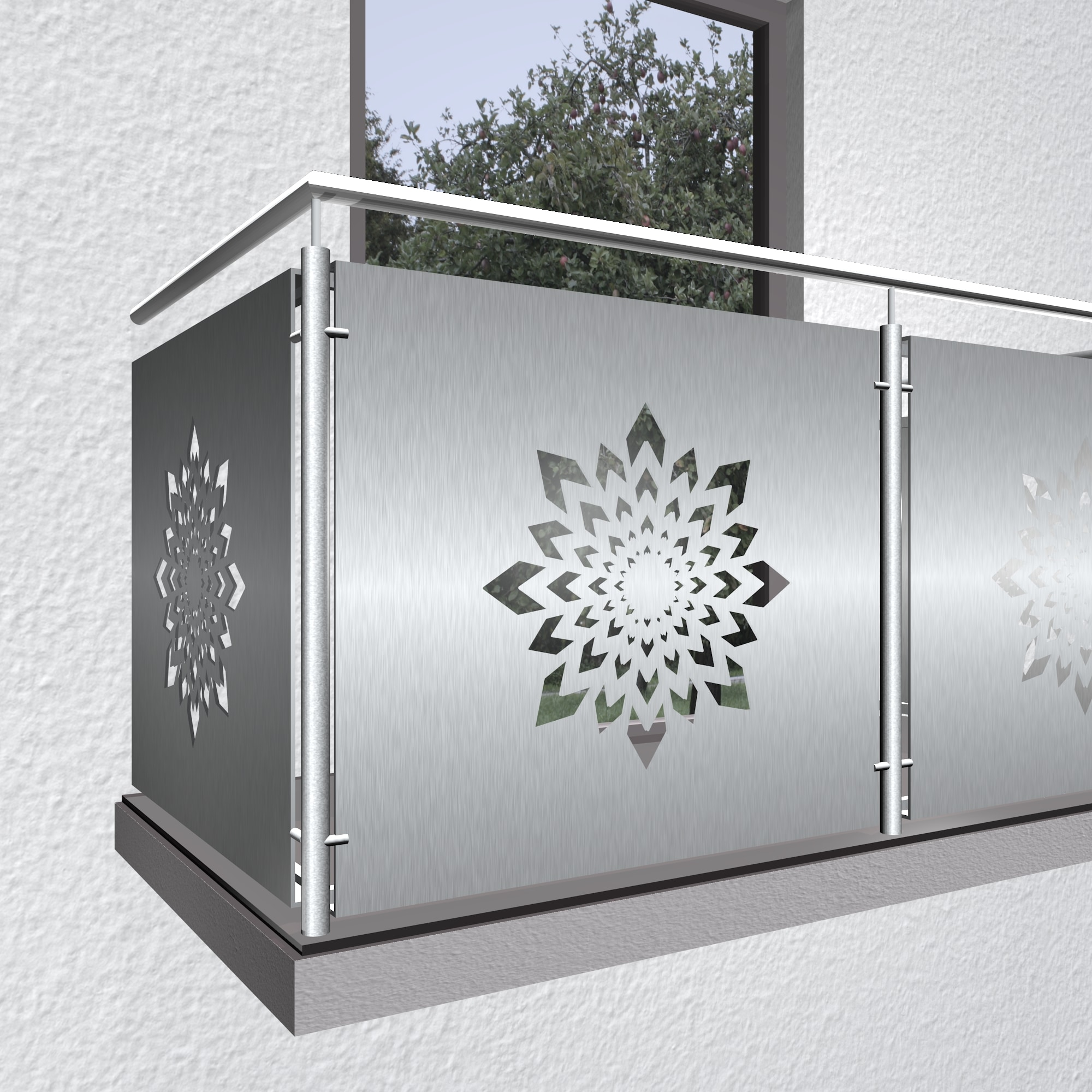 Balkonverkleidung Edelstahl KL