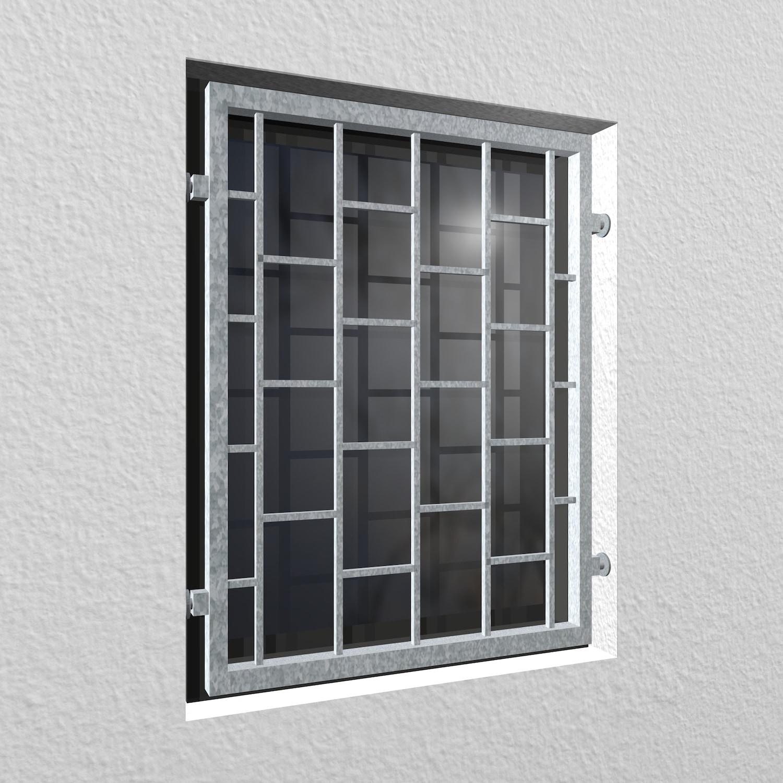 Mobiles Fenstergitter verzinkt Leiter