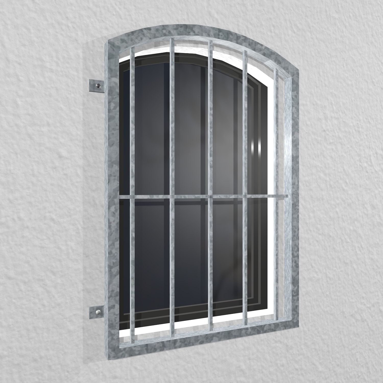 Fenstergitter verzinkt Vertikalstab Oberbogen