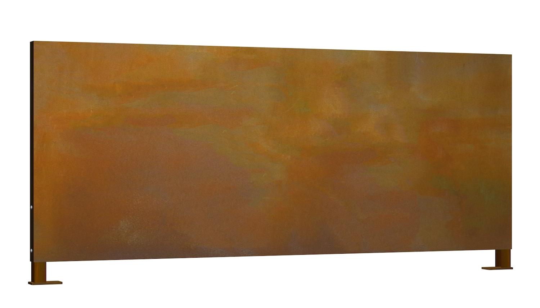 Sichtschutz Cortenstahl Stele Ohne Motiv Querformat