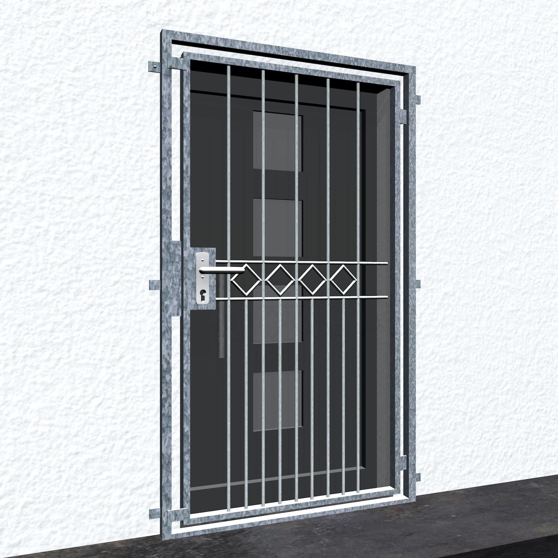 Gittertür verzinkt Karoreihe
