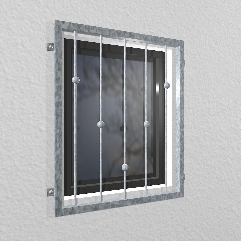 Fenstergitter verzinkt V-Kugeln
