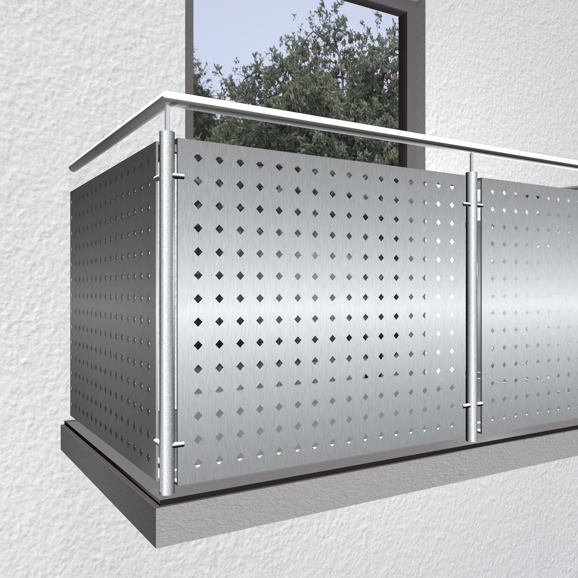 Balkonverkleidung Edelstahl QL DI GE