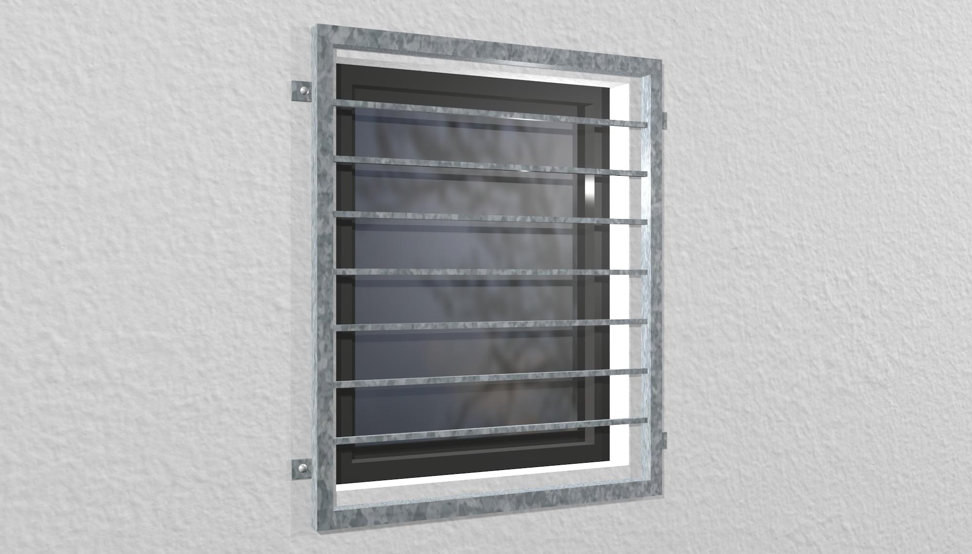 Fenstergitter verzinkt Querstab