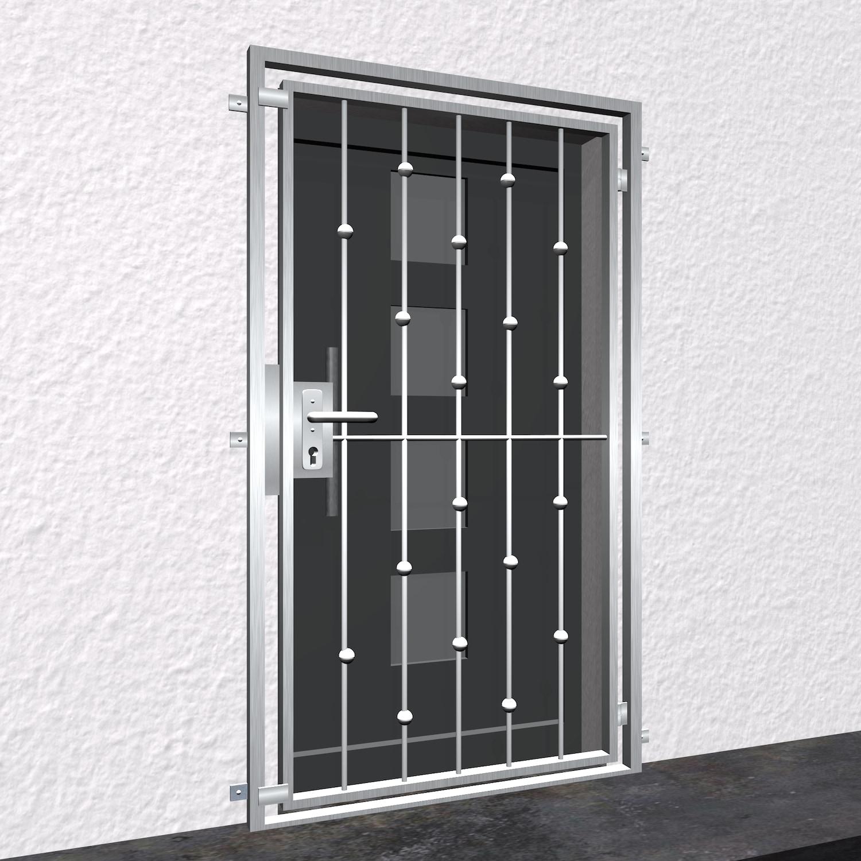 Gittertür Edelstahl Kugeln versetzt