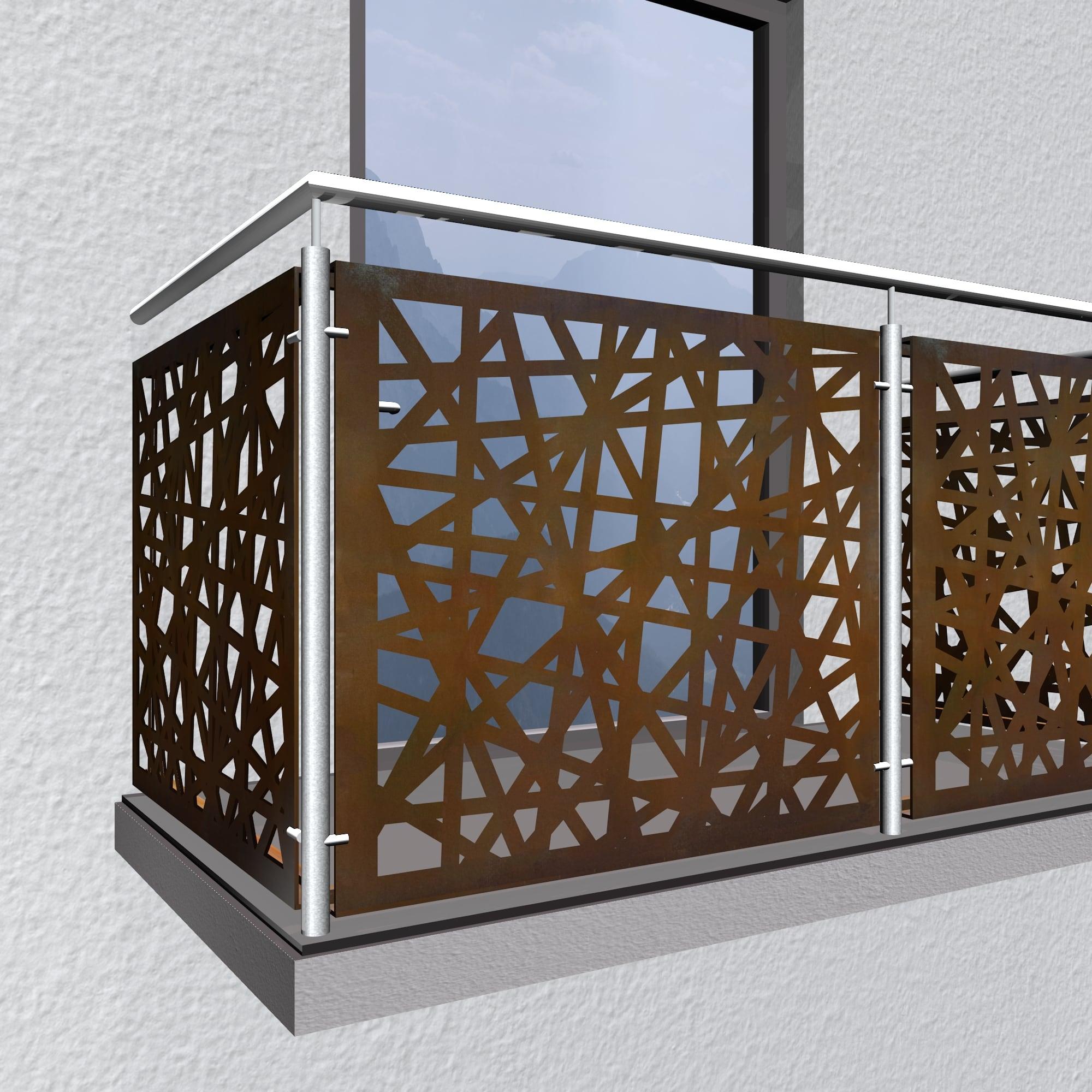Balkonverkleidung Cortenstahl AB