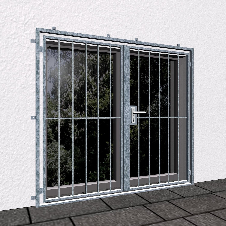 Gittertür verzinkt 2-flügelig Vertikalstab