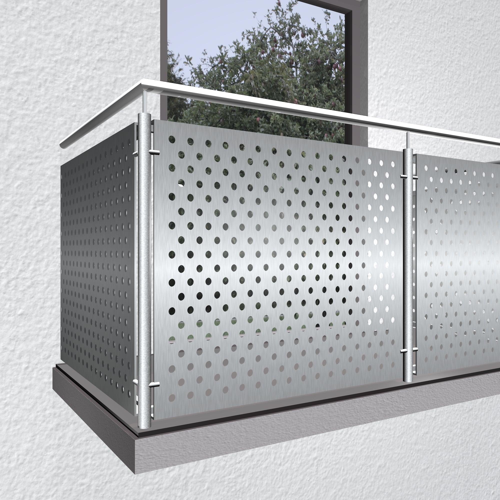 Balkonverkleidung Edelstahl RL VE