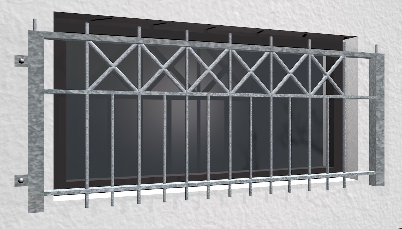 Kellerfenstergitter verzinkt Toulon