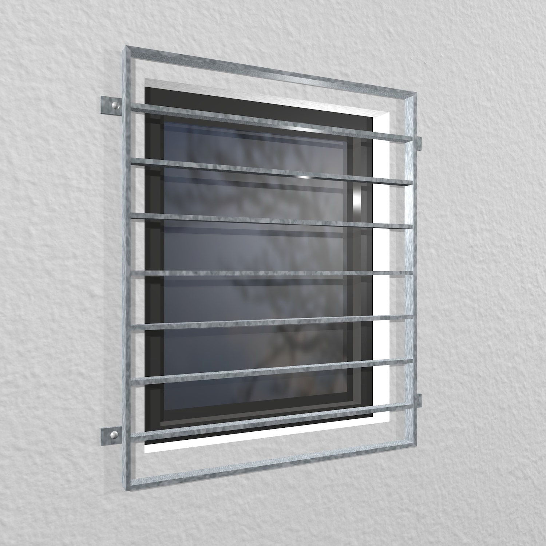 Fenstergitter verzinkt Querstab Flachstahl