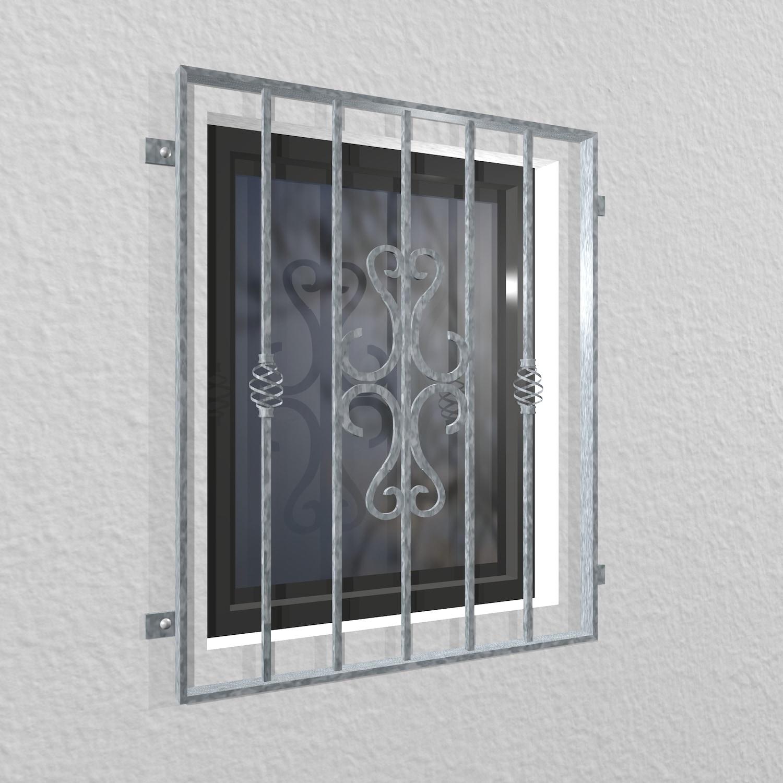 Fenstergitter verzinkt Schnörkel