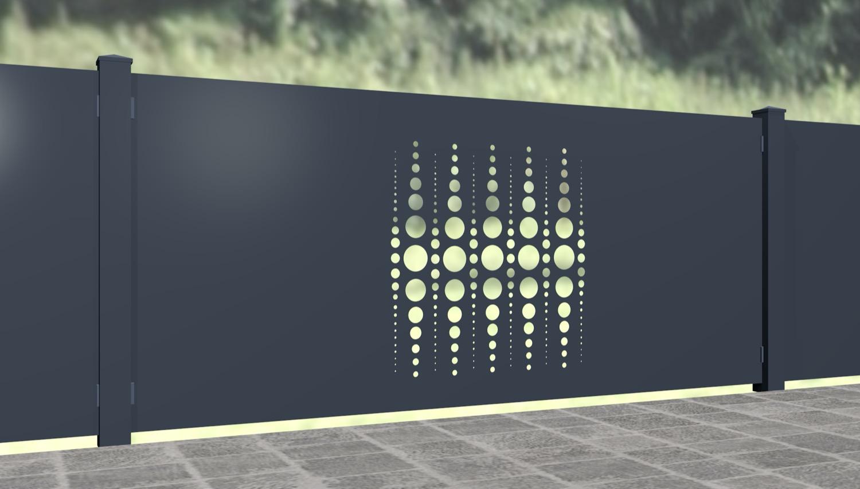 Gartenzaun Alu Laserschnitt Design PE