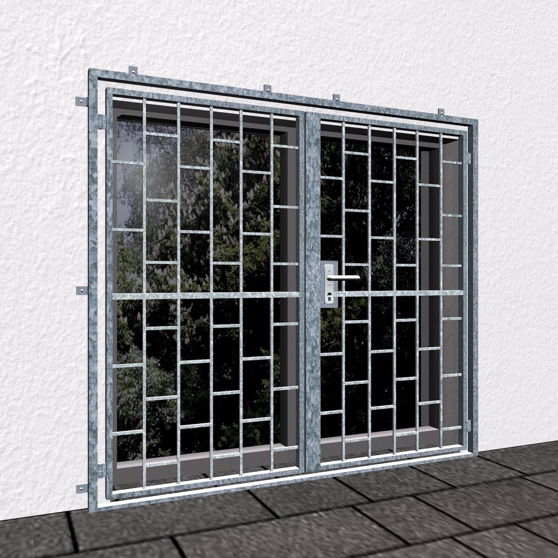 Gittertür verzinkt 2-flügelig Leiter