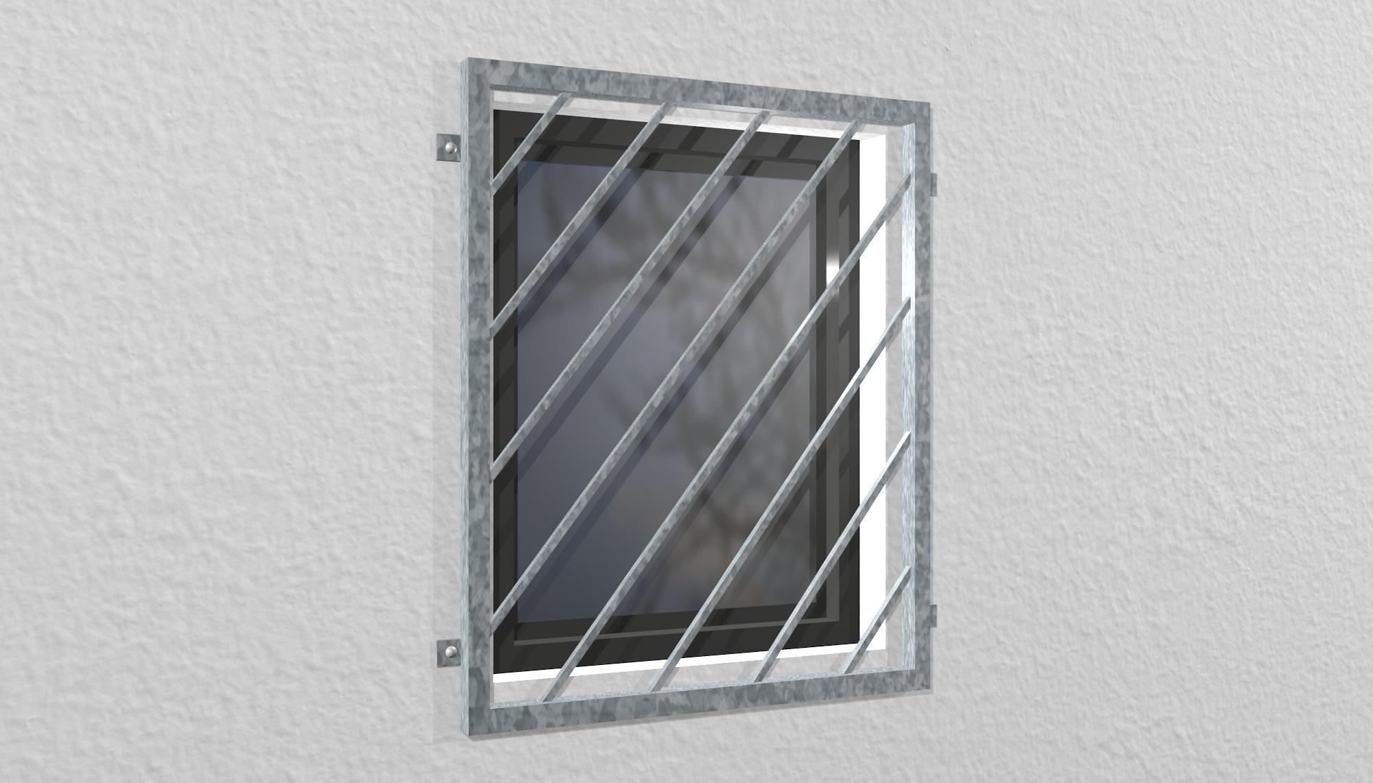 Fenstergitter verzinkt Diagonalstab 1