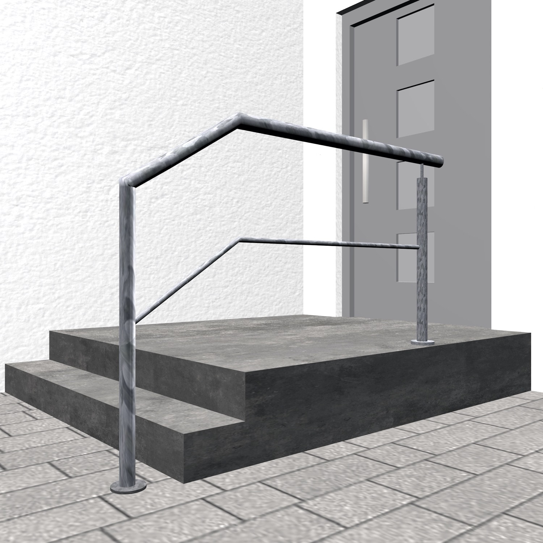 Treppengeländer verzinkt  FAS-CL 1-3 Querstreben