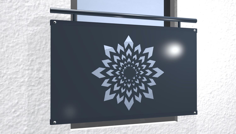 Französischer Balkon verzinkt Designblech Kristall