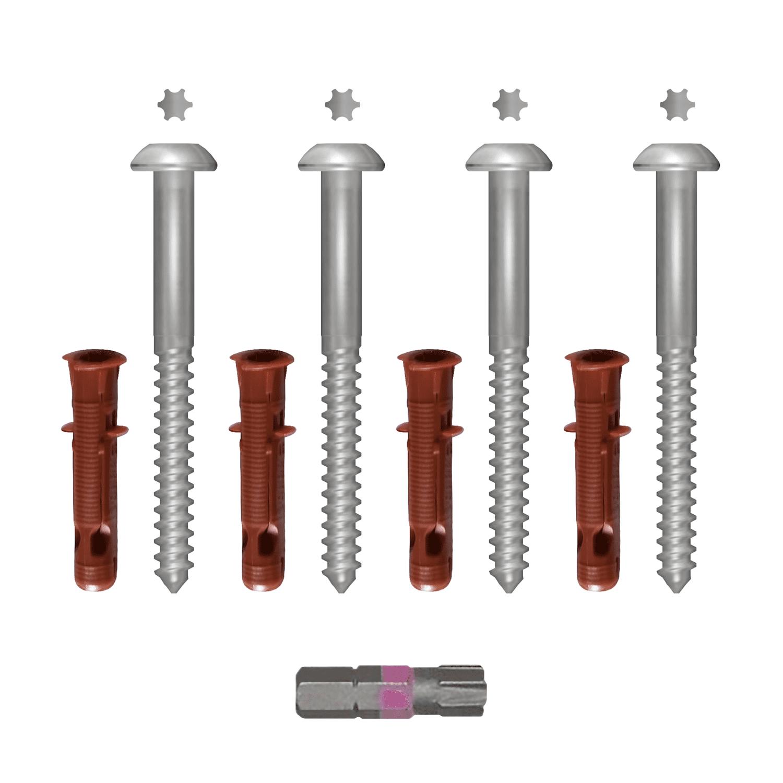 Sicherheitsschrauben-Set verzinkt 7x105 mm
