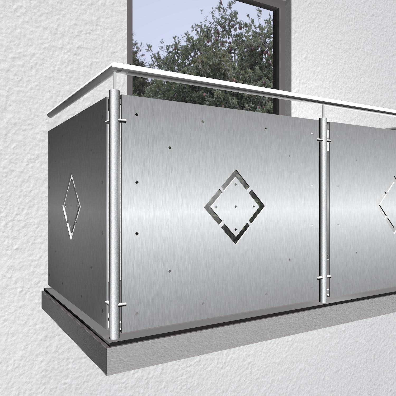 Balkonverkleidung Edelstahl WÜ