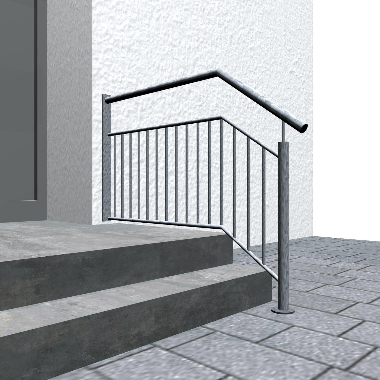 Treppengeländer verzinkt  WTS-CL Stabfüllung