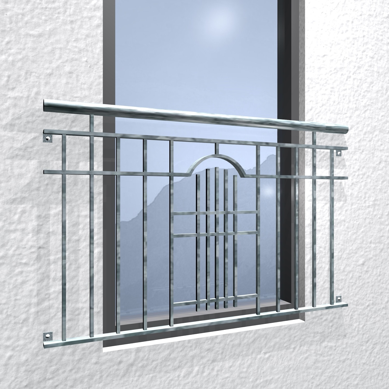 Französischer Balkon verzinkt Modern III Ornament