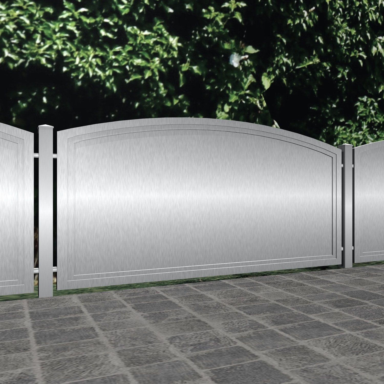 Gartenzaun Edelstahl Sichtschutz Blickdicht, OB
