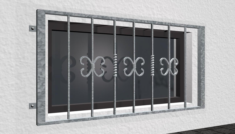 Kellerfenstergitter verzinkt Barock