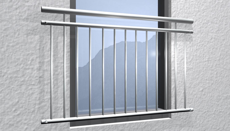 Französischer Balkon Edelstahl Standard