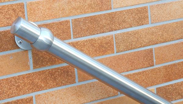 Handlauf Edelstahl - Modell Kugelring Detailfoto