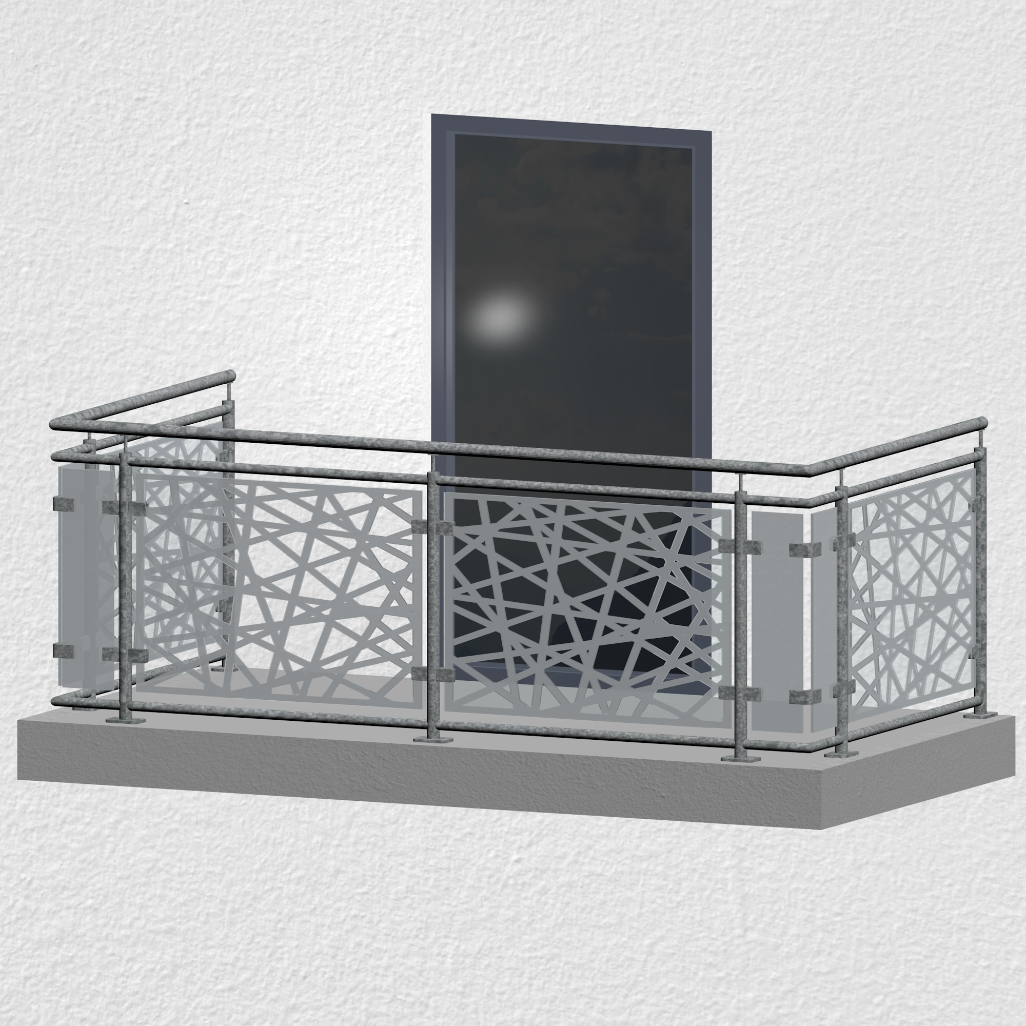 Balkongeländer verzinkt Designglas AB 1