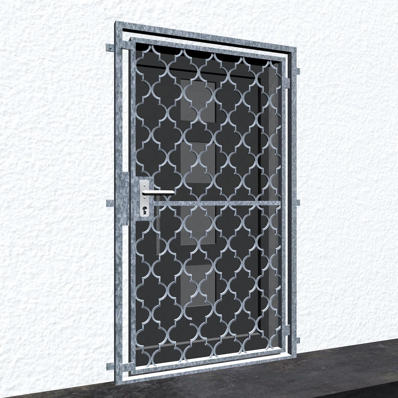 Gittertür verzinkt Rauten Classic