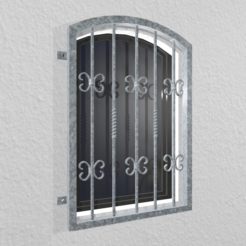 Fenstergitter verzinkt Barock Oberbogen