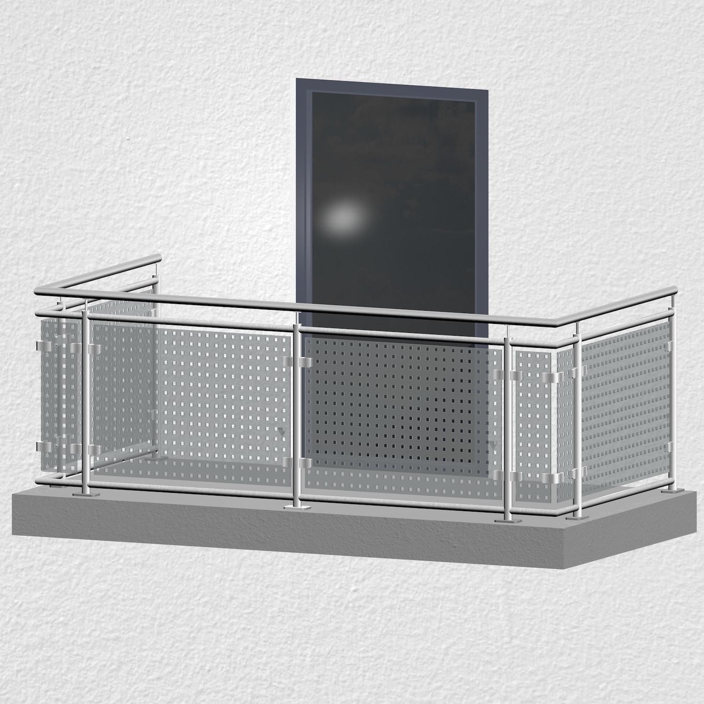 Balkongeländer Edelstahl Designglas MC