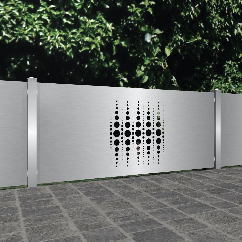 Gartenzaun Edelstahl Laserschnitt Design PE