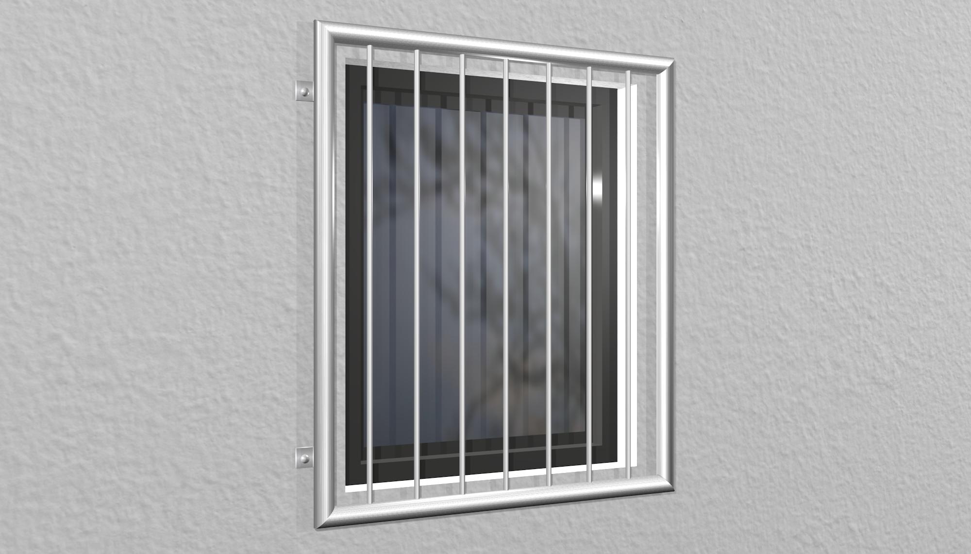 Fenstergitter Edelstahl Vertikalstab 1