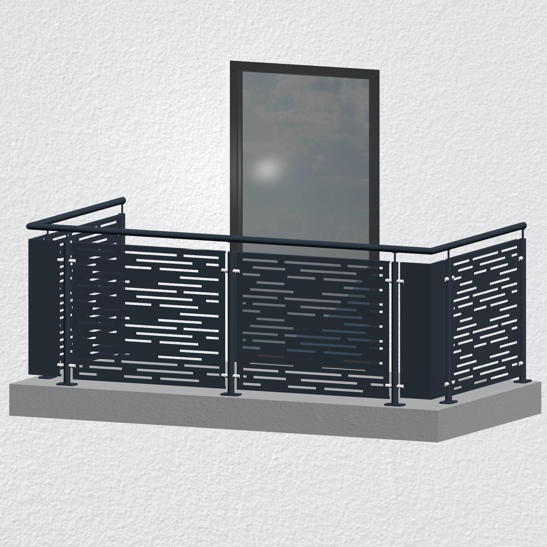 Balkongeländer verzinkt Designblech SF HO