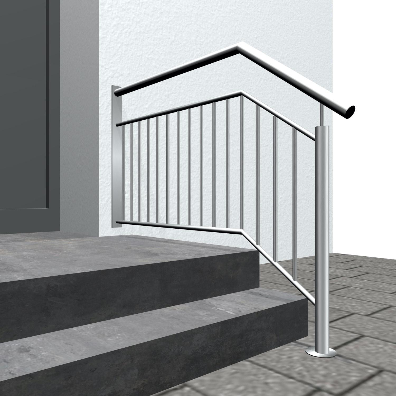 Treppengeländer Edelstahl WTS-CL Stabfüllung