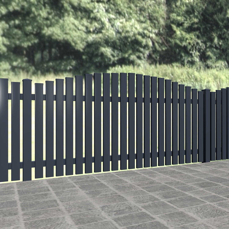Gartenzaun Alu Latten Modern, OB